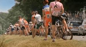 Radfahrer pinkeln