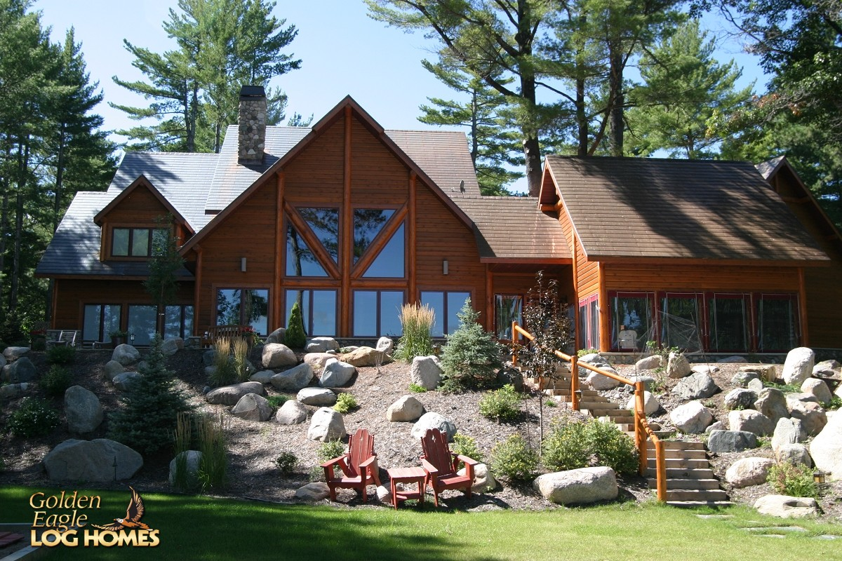 Golden Eagle Log and Timber Homes Log Home  Cabin Pictures Photos Minocqua Custom Hybrid