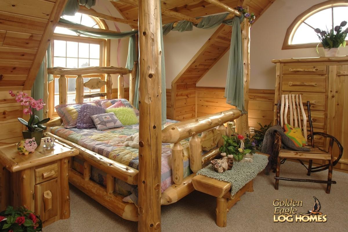 Cabin Log Bedroom Suite Master