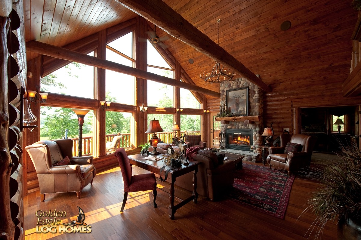 Golden Eagle Log And Timber Homes Log Home Cabin Pictures Photos Wisconsin Dells 2093AL