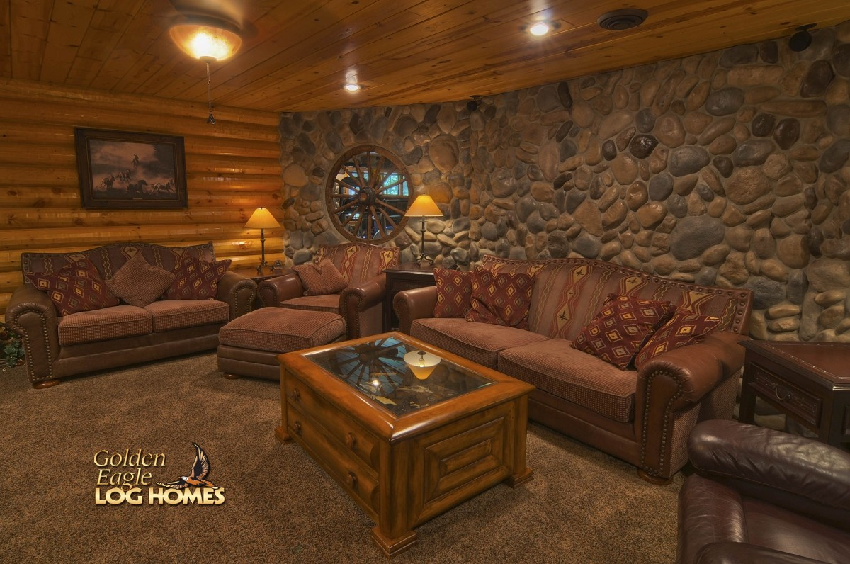 kitchen island kits portable with granite top golden eagle log and timber homes: home / cabin ...