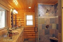 Log Home Master Bathrooms