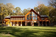 Log Cabin Home Plans with Basement