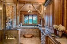 Bathroom Home Log Cabin Interior