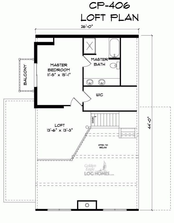 Golden Eagle Log and Timber Homes: Floor Plan Details