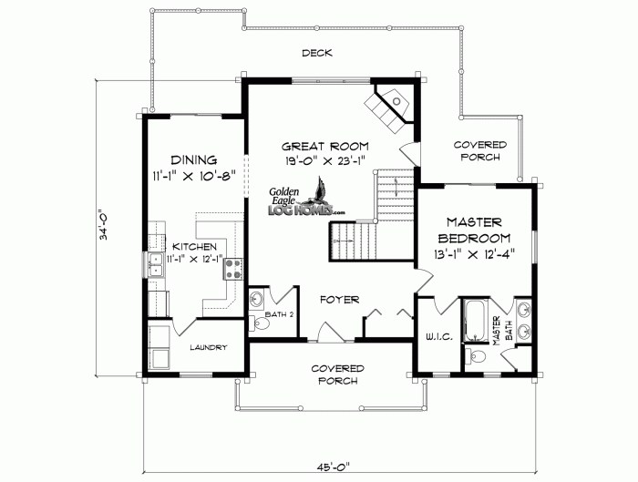 Golden Eagle Log and Timber Homes: Floor Plan Details