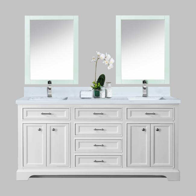 White Milan Bathroom Vanity