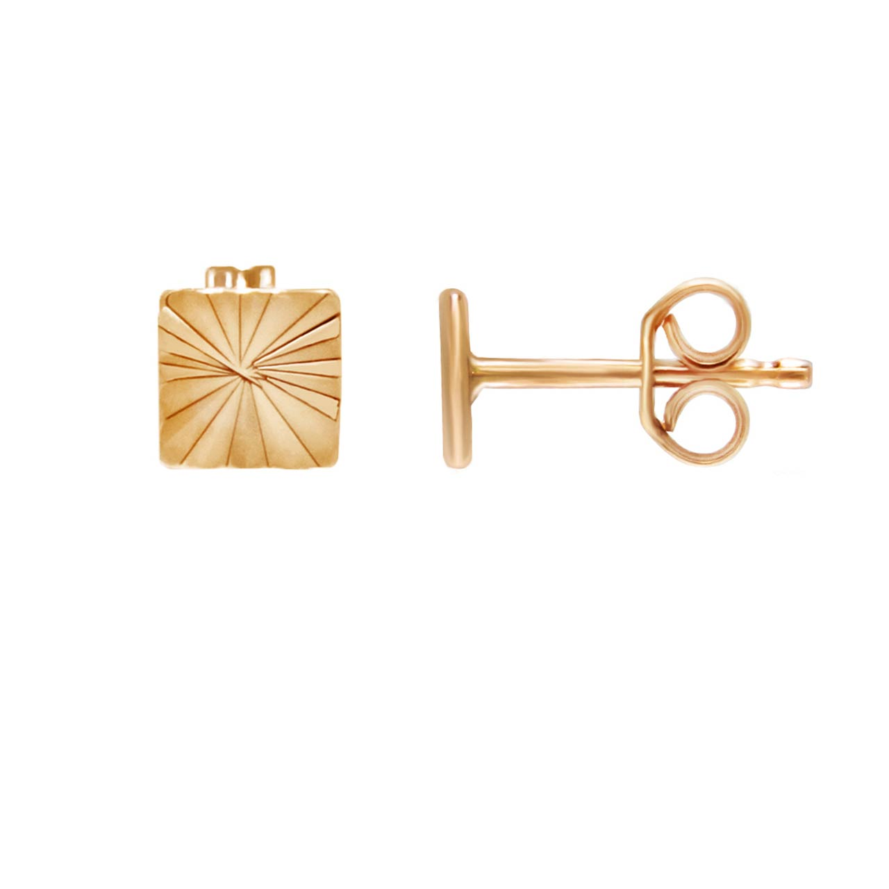 Gold Stud Earrings. Gold Chain Earrings