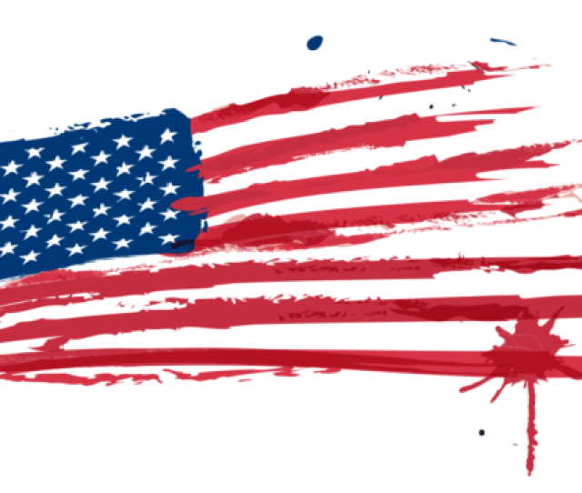 American Flag Painted With Watercolors