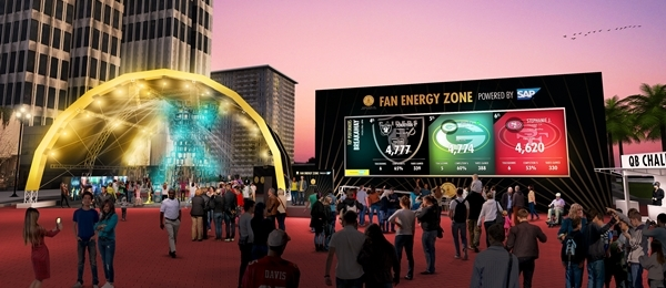 Super Bowl City Fan Energy Zone
