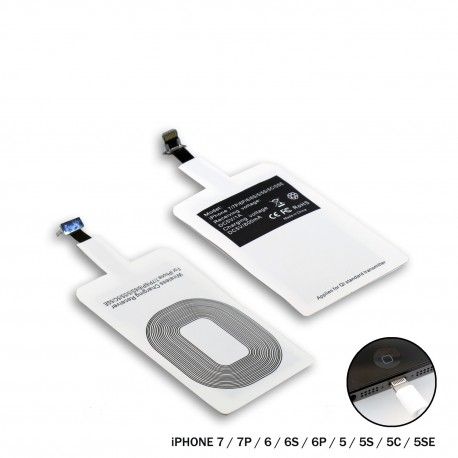 Adaptador para carga inalámbrica dispositivo con conexión Lightning (Apple / iPhone)