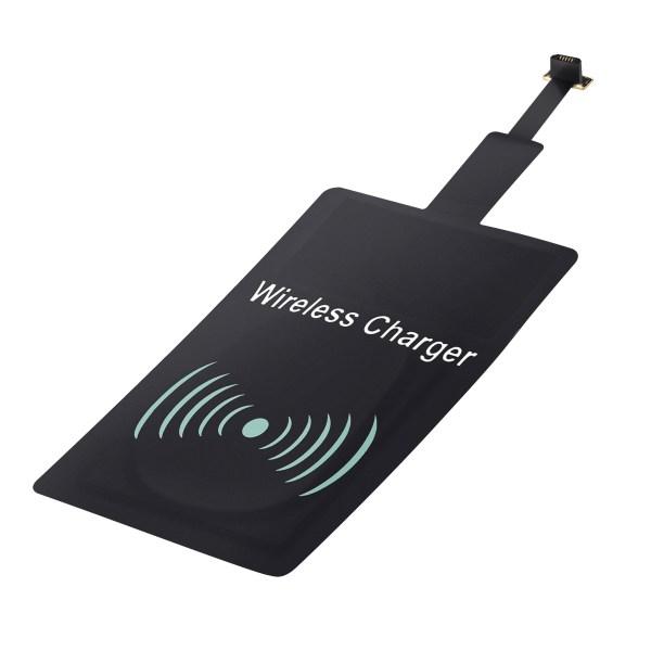 Adaptador para carga inalámbrica dispositivo Android con conexión Micro USB