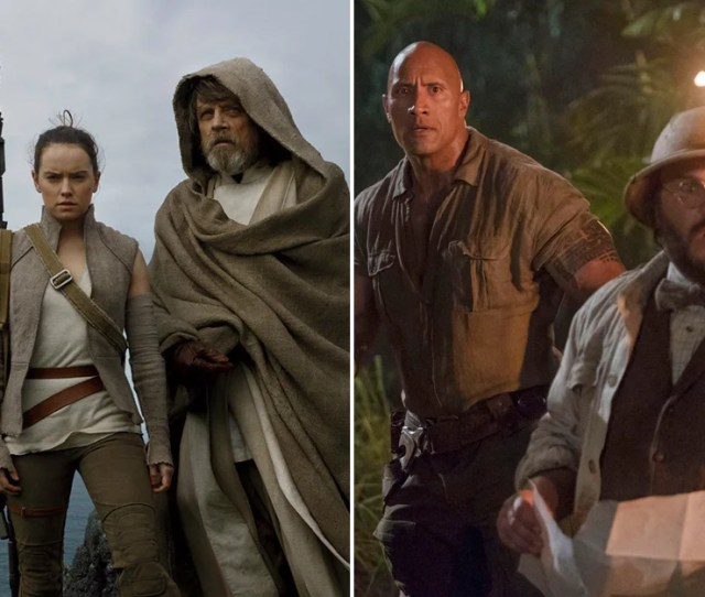 Scenes From Star Wars The Last Jedi And Jumanji Welcome To