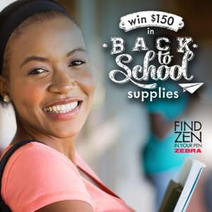 Find Zen During Back to School Sweepstakes