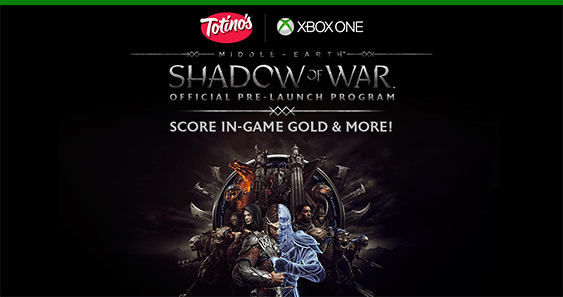Totinos Middle-Earth Shadow of War Pre-Launch Sweepstakes