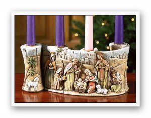 Nativity Advent Candleholder Giveaway
