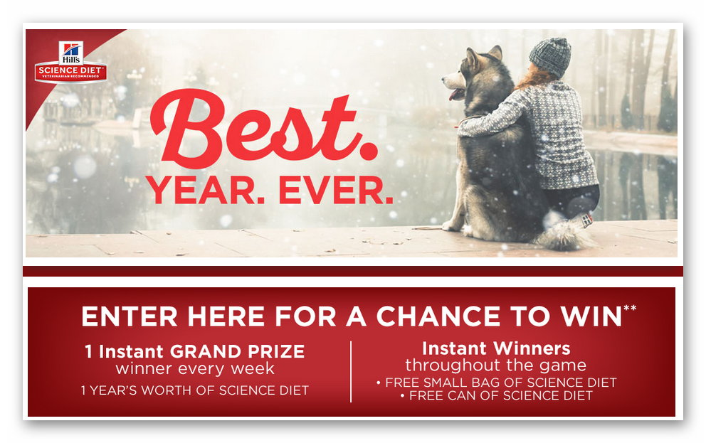 Hill's Science Diet Best Year Ever Instant Win Game