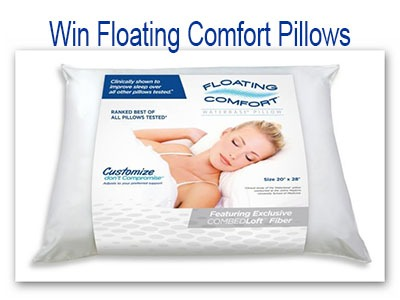 Floating Comfort Pillow Mediflow Giveaway