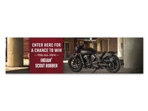 Win an Indian Scout Bobber Motorcycle