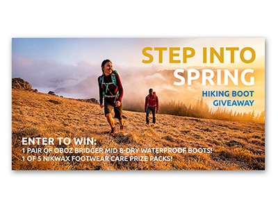 Nikwax Hiking Boot Giveaway - Ends March 31st