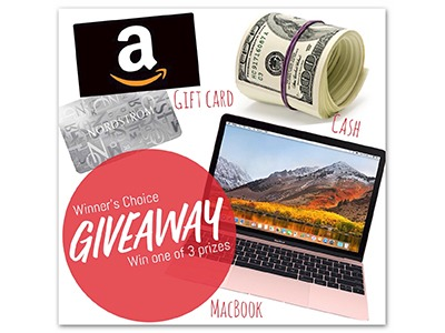 Winner's Choice - MacBook Air /$900 Gift Card/$600 PayPal Cash! - Ends April 20th