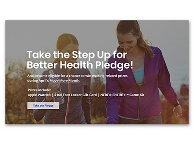 United Healthcare Step Up for Better Health Pledge Sweepstakes