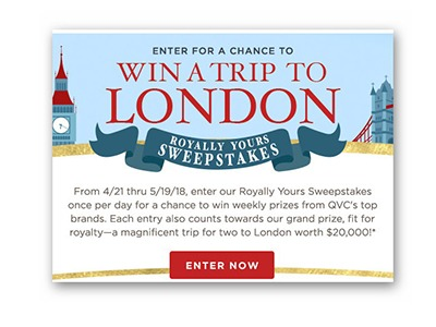 QVC Royally Your Sweepstakes (33 winners) - Ends May 19th