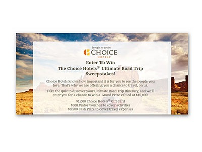 Choice Hotels Ultimate Road Trip Sweepstakes - Ends Sept 30th