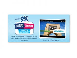 Wet Ones Picture yourself at Universal Parks & Resorts