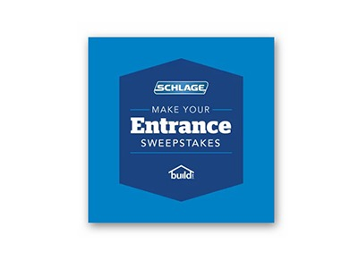 Schlage Make Your Entrance Sweepstakes