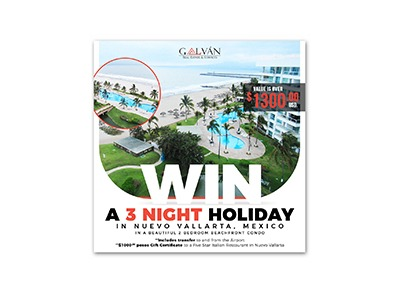 Win a $1300 Travel Package in Nuevo Vallarta Mexico
