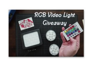 RGB Video Light Giveaway Giveaway