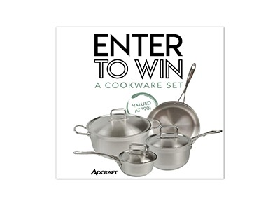 Win an Adcraft Stainless Steel Cookware Set