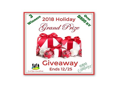 2018 Holiday Grand Prize Giveaway