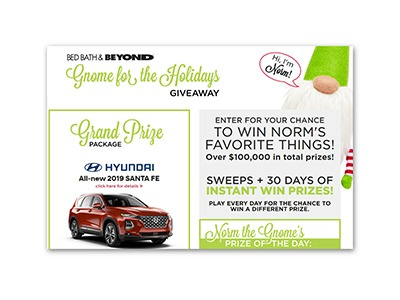 Gnome for the Holidays Instant Win Game