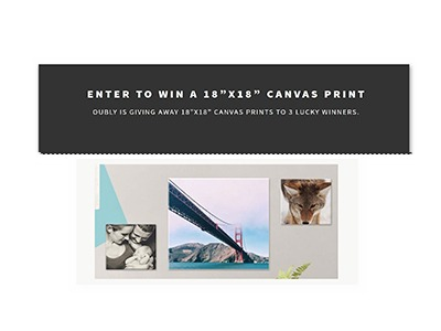 Win an Oubly Canvas Print