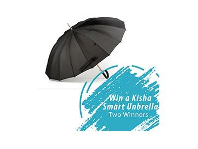 Win a Kisha Smart Umbrella