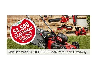 Bob Vila Craftsman Yard Tools Giveaway