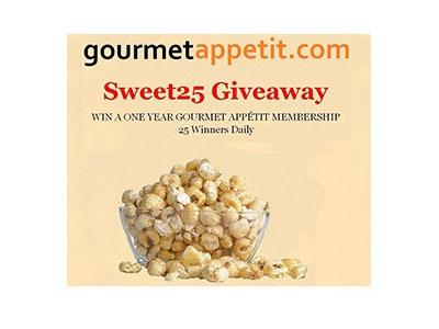 Gourmet Appetit 1-year Membership Giveaway