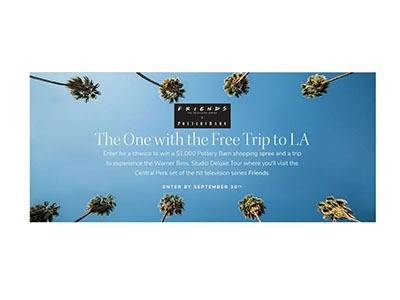 Pottery Barn Friends Sweepstakes