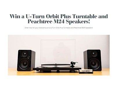 U-Turn Orbit Turntable and Speakers Giveaway