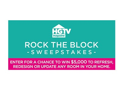 HGTV Rock the Block Sweepstakes