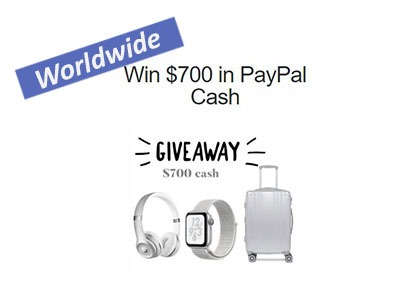 Win $700 PayPal Cash