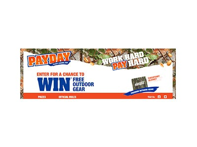 Hersheys Work Hard Pay Hard text to Win Sweepstakes