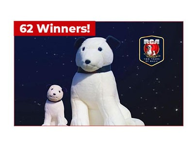 Win the RCA Nipper & Chipper Plush Set