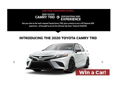 Win a 2019 Toyota Camry