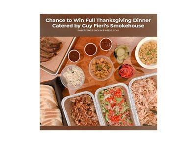 Guy Fieri's Smokehouse Thanksgiving Sweepstakes