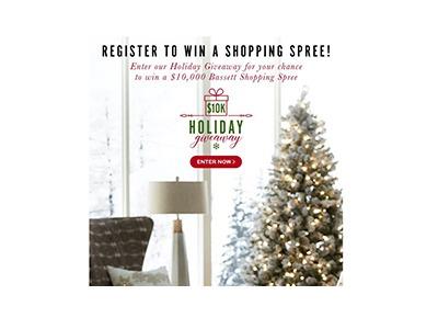 Bassett $10K Holiday Sweepstakes
