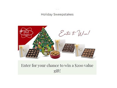 DGZ Chocolates Holiday Sweepstakes