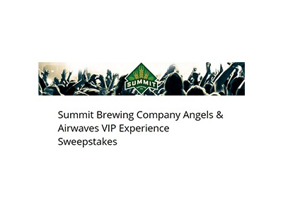 Summit Brewing Company Angels & Airwaves VIP Experience Sweepstakes